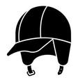 hiking helmet icon simple style vector image