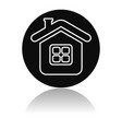home icon outline round black icon of a vector image