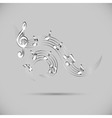 Icon of wavy music vector image