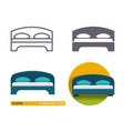 icons of the bed vector image vector image