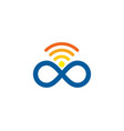 infinite wifi logo icon design vector image