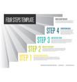 infogrpahic steps diagram template vector image