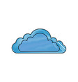 isolated cloud cartoon vector image vector image