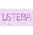 listeria microorganism letters vector image
