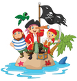 Little kids trapped in areas of the island treasur vector image vector image