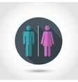 Male and female flat icon vector image vector image