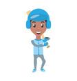 man playing baseball cartoon vector image vector image