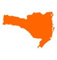 Map of Santa Catarina vector image vector image