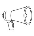 megaphone speaker cartoon vector image