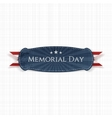 Memorial Day patriotic Banner and Ribbon vector image vector image
