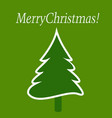 merry christmas with tree card template vector image