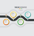 navigation map infographic 4 steps timeline vector image vector image