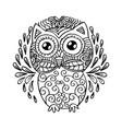 owl sitting decorative ornament vector image