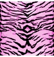 Pink tiger seamless pattern Animal design vector image