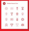 reward icons vector image vector image