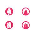 rose flower logo template vector image vector image