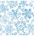 seamless snowflakes pattern watercolor texture vector image vector image