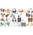 set music element vector image vector image