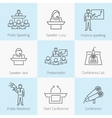 Set of public speaking icons vector image