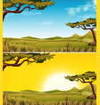 set of savanna landscape vector image