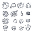 set with household elements in vector image vector image