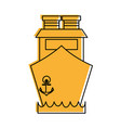 ship frontside icon image vector image vector image
