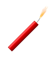 Single dynamite with burning wick vector image