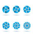 Six segmented circles vector image