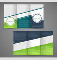 tri-fold business brochure template two-sided vector image vector image
