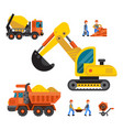under construction technic vector image vector image
