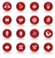 web buttons collection vector image vector image