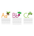 writing practice letters abc education for kids vector image vector image