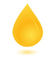 yellow oil drop vector image vector image