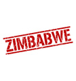 Zimbabwe red square stamp vector image vector image