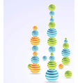 Abstract Christmas balls background vector image