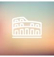 Coliseum thin line icon vector image
