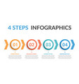 4 steps infographics vector image vector image