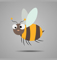 a friendly cute cartoon bee flying vector image