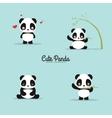 abstract cute pandas vector image vector image