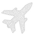 airplane polygonal frame mesh vector image vector image