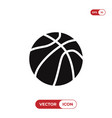 ball of basketball icon vector image
