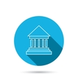 Bank icon Court house sign vector image
