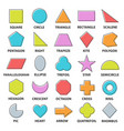 basic shapes set vector image vector image
