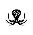 big octopus black icon sign on isolated vector image vector image