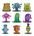 Big set of cute cartoon monsters vector image vector image