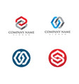 business corporate abstract unity logo vector image vector image
