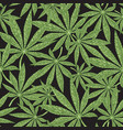 cannabis seamless pattern green leaves marijuana vector image vector image