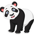 cartoon happy panda vector image vector image