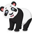 cartoon happy panda vector image