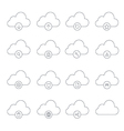 clouds icons1 vector image